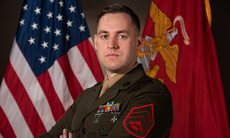 Enlisted Marine Earns Top Marine Corps Student Award